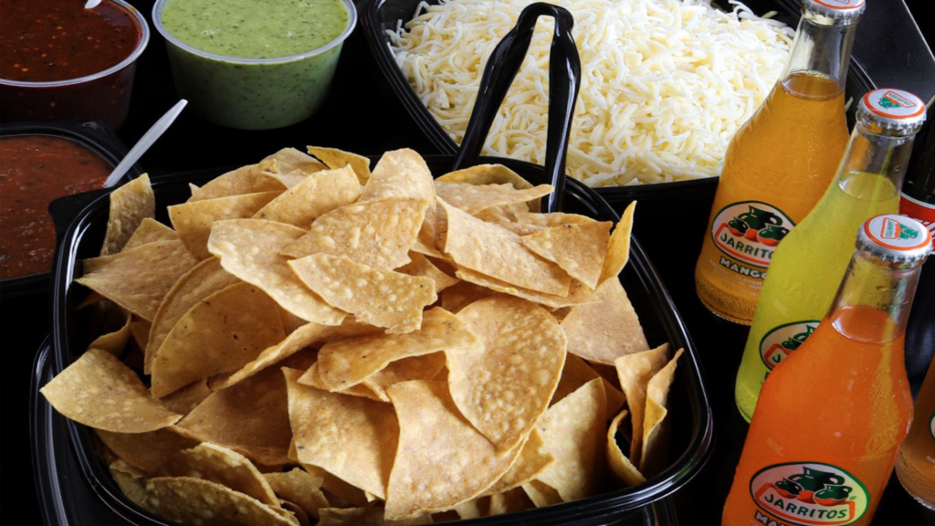 Chips and Salsa with Soda